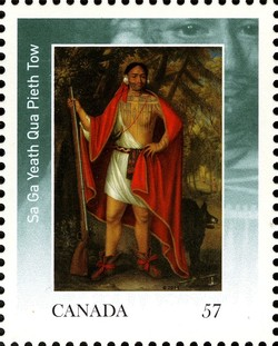 Sa Ga Yeath Qua Pieth Tow Canada Postage Stamp | The Four Indian Kings