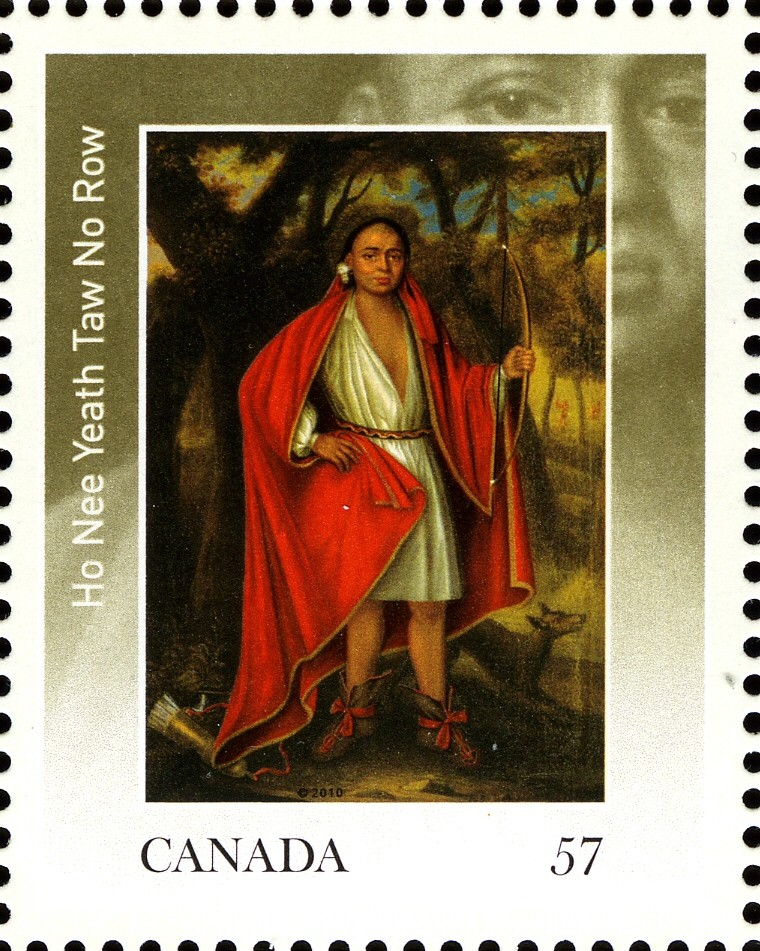 Ho Nee Yeath Taw No Row Canada Postage Stamp | The Four Indian Kings
