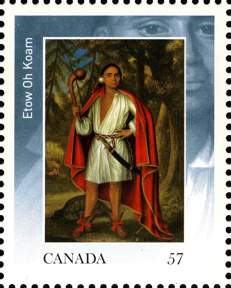 Etow Oh Koam Canada Postage Stamp | The Four Indian Kings