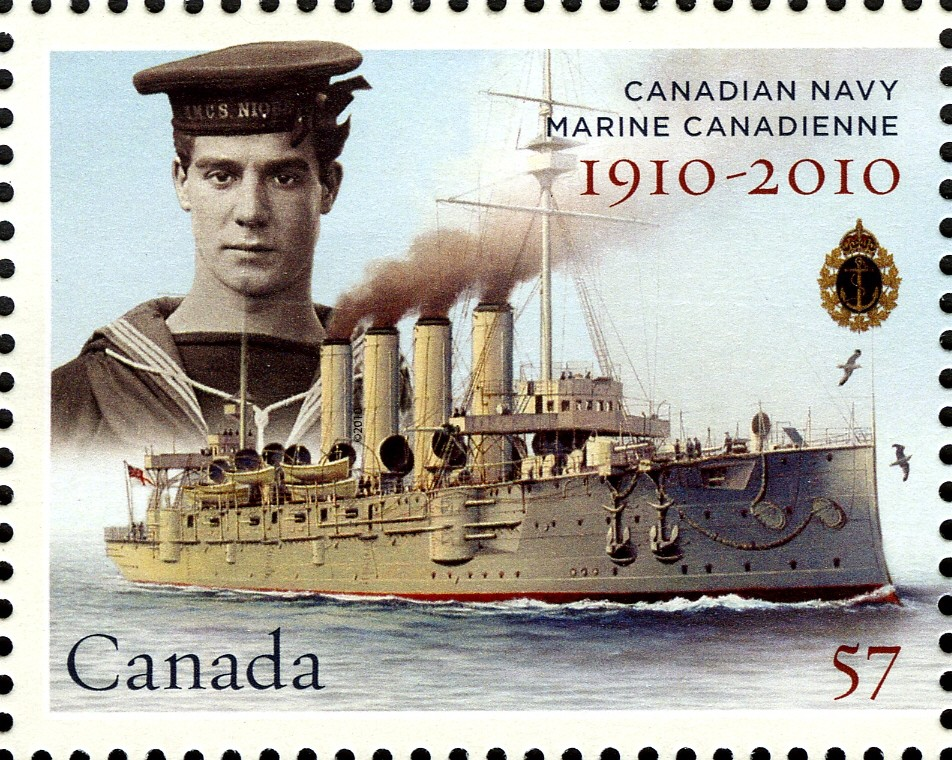 HMCS Niobe Canada Postage Stamp | Canadian Navy: 1910-2010