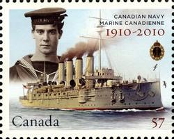 HMCS Niobe Canada Postage Stamp   Canadian Navy: 1910-2010