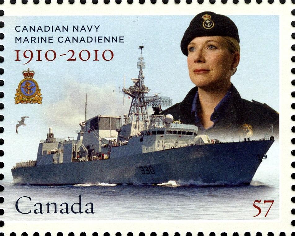 HMCS Halifax Canada Postage Stamp | Canadian Navy: 1910-2010