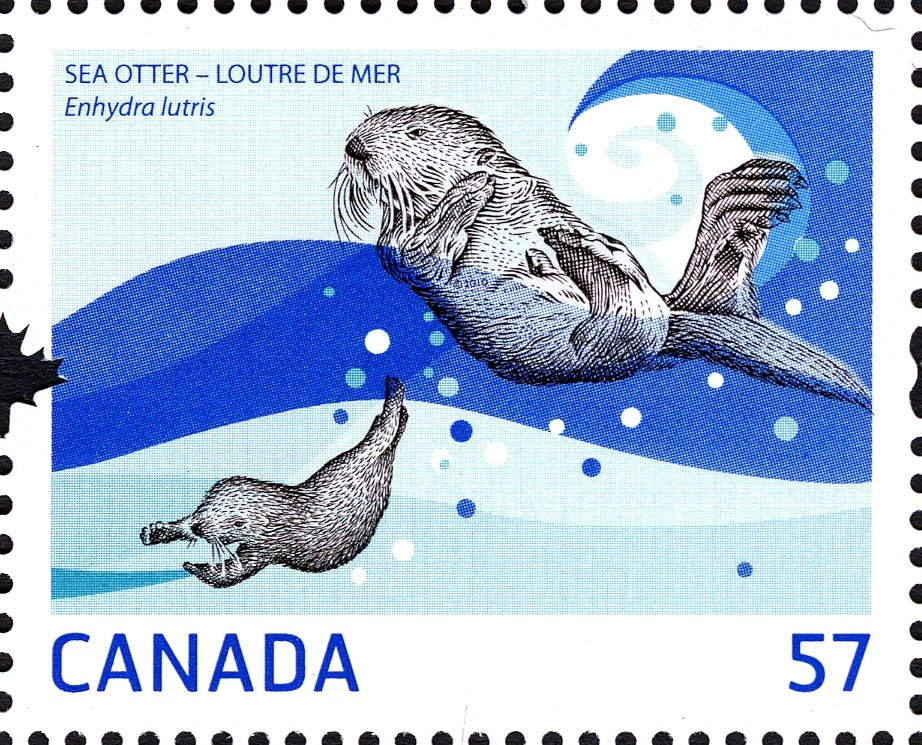 Sea Otter Canada Postage Stamp | Marine Life