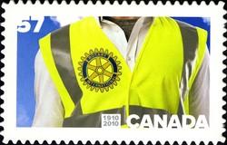 Rotary International, 1910-2010 Canada Postage Stamp
