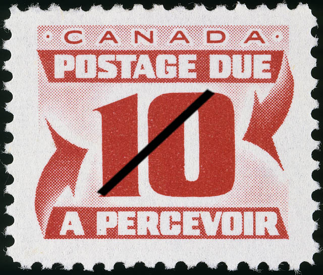 Postage Due Canada Postage Stamp   Postage Due