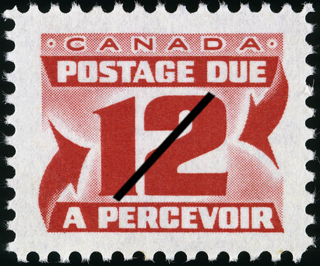 Postage Due Canada Postage Stamp