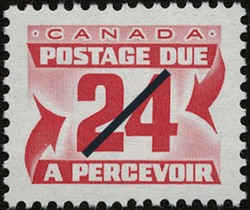 Postage Due Canada Postage Stamp | Postage Due