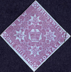 Crown and Floral Emblems New Brunswick Postage Stamp