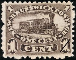 Locomotive New Brunswick Postage Stamp