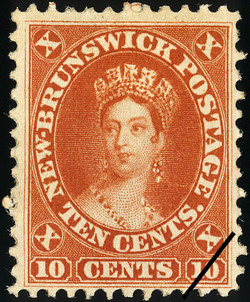 Queen Victoria New Brunswick Postage Stamp