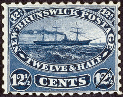 Steamship New Brunswick Postage Stamp