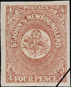 Rose, Thistle and Shamrock Newfoundland Postage Stamp