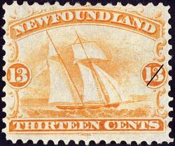 Square Topsail Schooner Newfoundland Postage Stamp