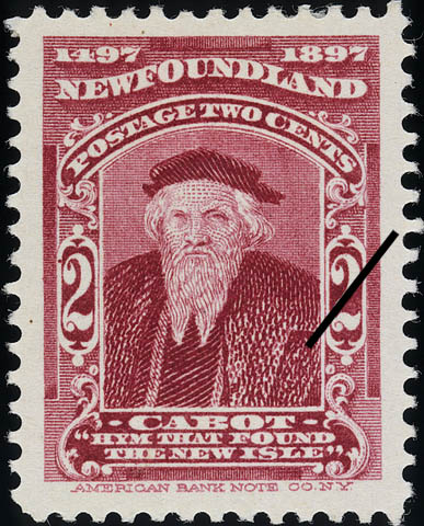 "Cabot, ""Hym that Found the New Isle"" Newfoundland Postage Stamp 