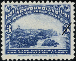 Cape Bonavista, the Landfall of Cabot Newfoundland Postage Stamp | Cabot - 1497-1897
