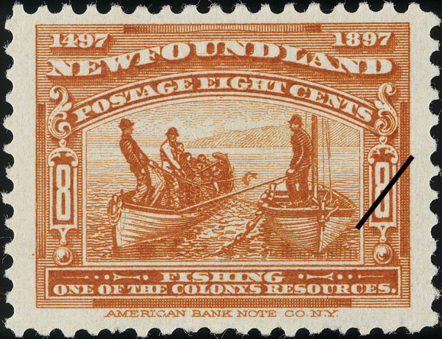 Fishing, One of the Colony's Resources Newfoundland Postage Stamp