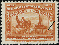 Fishing, One of the Colony's Resources Newfoundland Postage Stamp | Cabot - 1497-1897