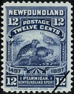 Ptarmigan, Newfoundland Sport Newfoundland Postage Stamp | Cabot - 1497-1897