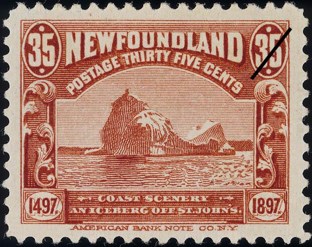 Coast Scenery, An Iceberg off St. John's Newfoundland Postage Stamp | Cabot - 1497-1897