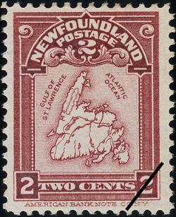Map of Newfoundland Newfoundland Postage Stamp