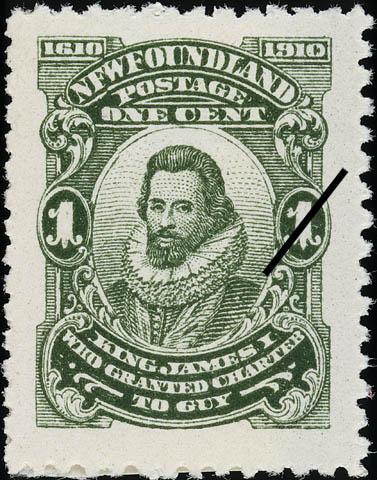King James I who Granted Charter to Guy Newfoundland Postage Stamp   Guy Tercentenary