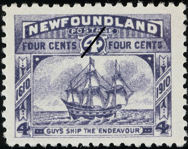 "Guy's Ship the ""Endeavour"" Newfoundland Postage Stamp 