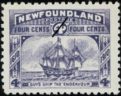 """Guy's Ship the """"Endeavour"""" Newfoundland Postage Stamp 
