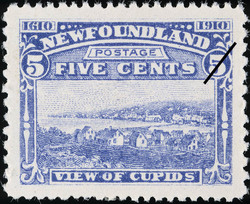 View of Cupids Newfoundland Postage Stamp | Guy Tercentenary