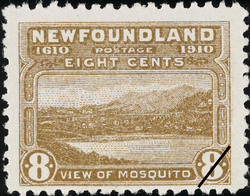 View of Mosquito Newfoundland Postage Stamp | Guy Tercentenary
