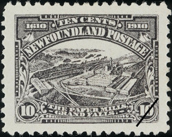 The Paper Mills, Grand Falls Newfoundland Postage Stamp | Guy Tercentenary