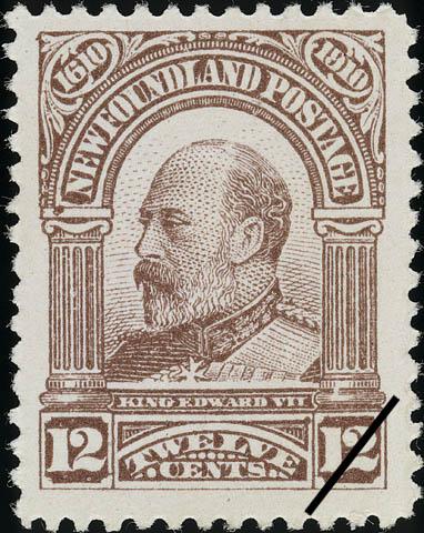 King Edward VII Newfoundland Postage Stamp | Guy Tercentenary