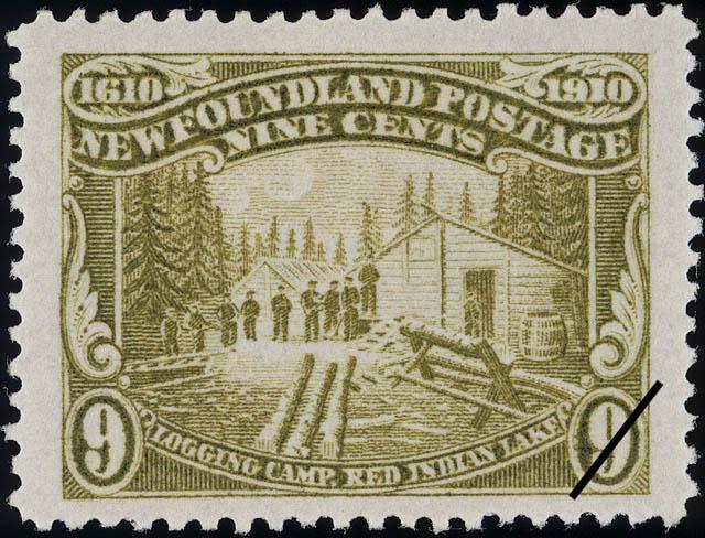 Logging Camp, Red Indian Lake Newfoundland Postage Stamp   Guy Tercentenary