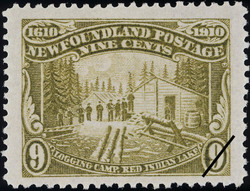 Logging Camp, Red Indian Lake Newfoundland Postage Stamp | Guy Tercentenary