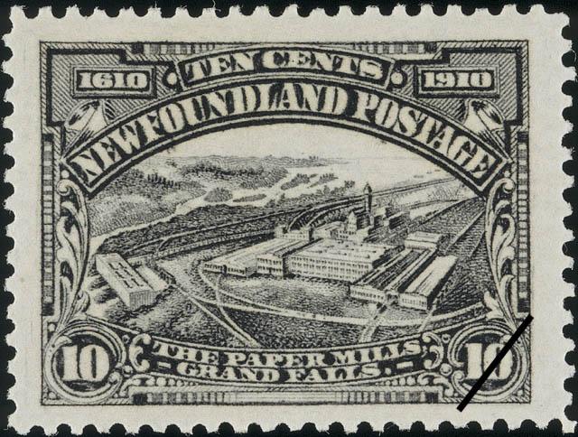 The Paper Mills, Grand Falls Newfoundland Postage Stamp | Guy Tercentenary
