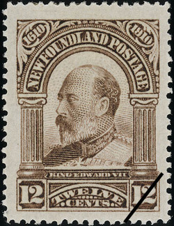 King Edward VII Newfoundland Postage Stamp | Guy Tercentenary