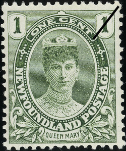 Queen Mary Newfoundland Postage Stamp | Coronation of King George V