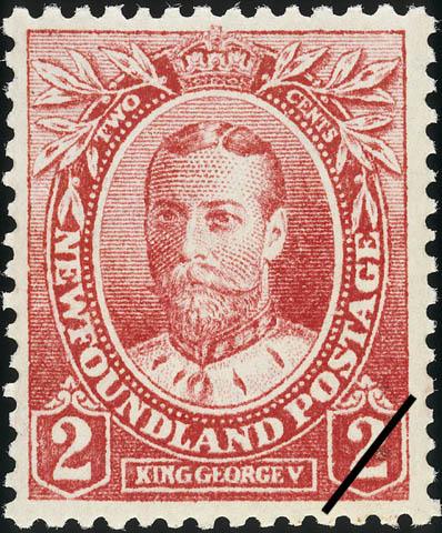 King George V Newfoundland Postage Stamp   Coronation of King George V