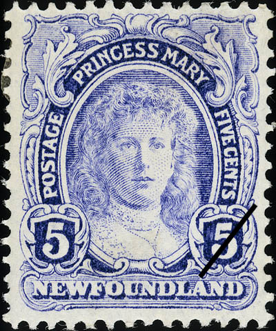 Princess Mary Newfoundland Postage Stamp | Coronation of King George V