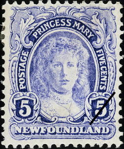 Princess Mary Newfoundland Postage Stamp | Coronation of King George V
