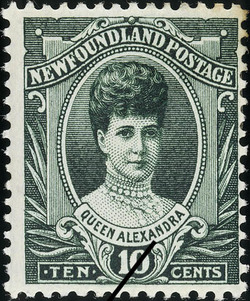 Queen Alexandra Newfoundland Postage Stamp | Coronation of King George V