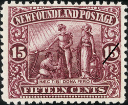 Haec tibi dona fero, These Gifts I Bring Thee Newfoundland Postage Stamp | Coronation of King George V