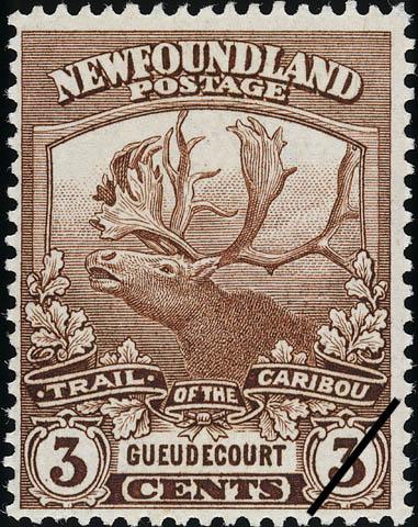Trail of the Caribou, Gueudecourt Newfoundland Postage Stamp | Caribou