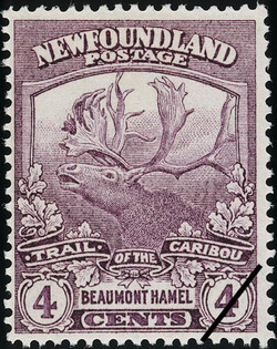 Trail of the Caribou, Beaumont Hamel Newfoundland Postage Stamp | Caribou