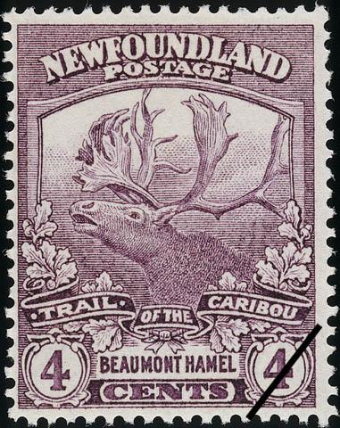 Trail of the Caribou, Beaumont Hamel Newfoundland Postage Stamp   Caribou