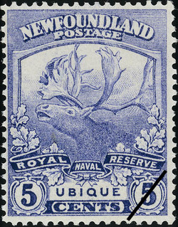 Royal Naval Reserve, Ubique, Everywhere Newfoundland Postage Stamp | Caribou