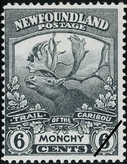 Trail of the Caribou, Monchy Newfoundland Postage Stamp | Caribou