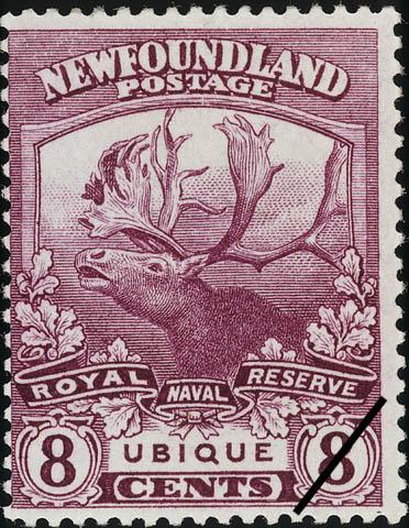 Royal Naval Reserve, Ubique, Everywhere Newfoundland Postage Stamp | Caribou