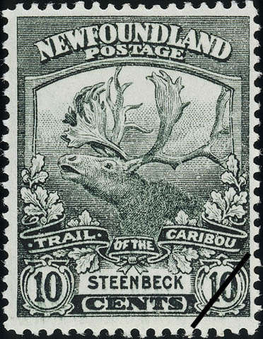 Trail of the Caribou, Steenbeck Newfoundland Postage Stamp | Caribou