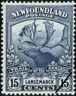 Trail of the Caribou, Langemarck Newfoundland Postage Stamp | Caribou