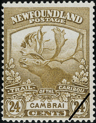 Trail of the Caribou, Cambrai Newfoundland Postage Stamp | Caribou